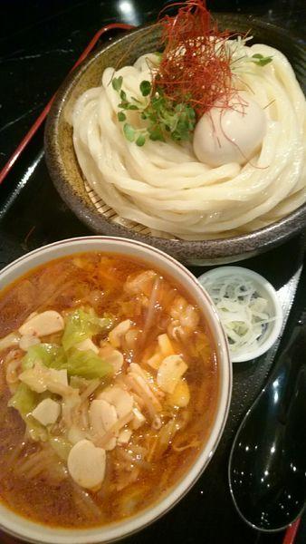 「国産プルプル 牛ホルモンつけ麺   961円」@まさかの写真