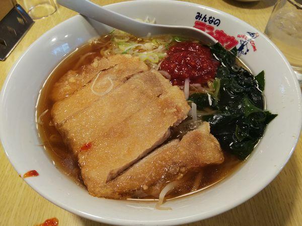 「肉揚げラーメン ※特製豆板醤カスタマイズ」@テンホウ 松本渚店の写真
