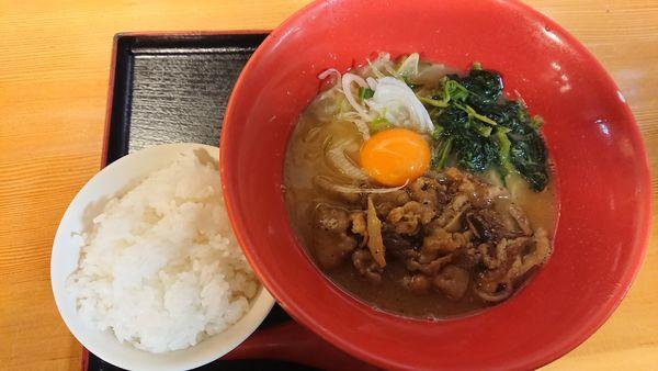 「肉玉らーめん(小ライス付き) 800円」@麺屋 龍王の写真