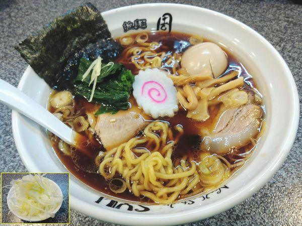 「生姜醤油らーめん ¥750・ネギ ¥150・味玉 ¥100」@Noodle Studio SYU 周の写真