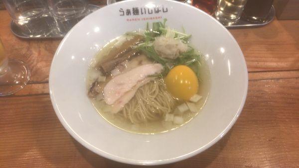 「味玉塩らぁ麺+ハートランド:1,370円」@らぁ麺 いしばしの写真