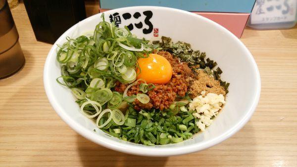 「九条ネギ盛り台湾まぜそば ニンニク少量」@麺屋 こころ 大岡山本店の写真