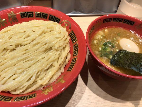 「味玉豚鶏つけ麺大盛」@赤備の写真