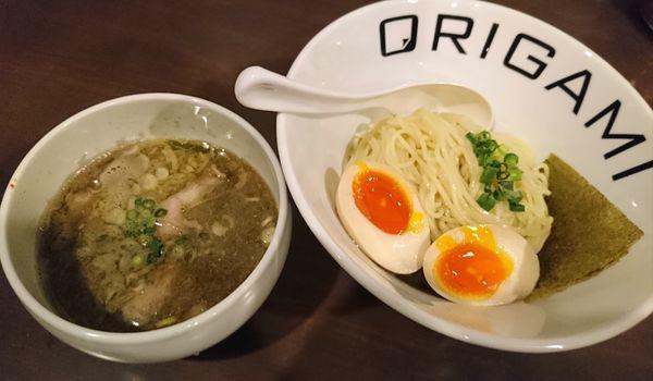 「味玉ORIGAMIつけ麺(あっさり)900円」@麺屋 ORIGAMIの写真