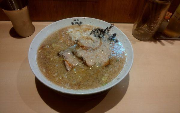 「中華そば(大盛り)鬼油」@麺工 豊潤亭の写真