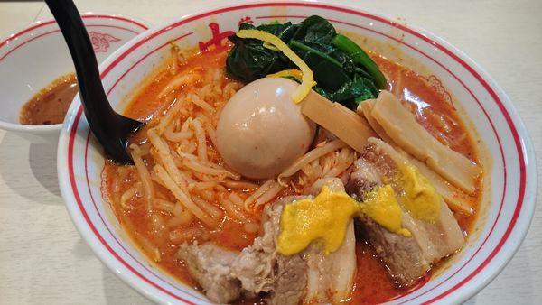 「紅と豚 AB醤 大盛(LINEクーポン)」@蒙古タンメン 中本 高田馬場店の写真