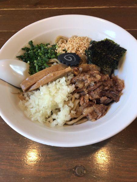 「ドラニボ〜煮干しまぜそば〜(850円)」@Dragon Noodle's ドラゴンラーメンの写真