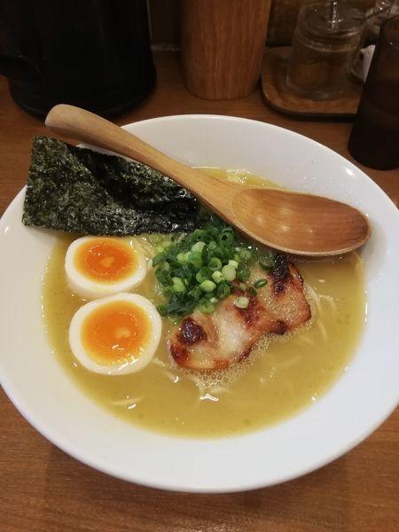「塩玉ラーメンぽてり850円」@鶏ポタラーメン THANK お茶の水の写真