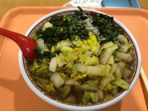 「白菜たっぷりラーメン」@どうとんぼり神座 神戸ハーバーランドumie店の写真