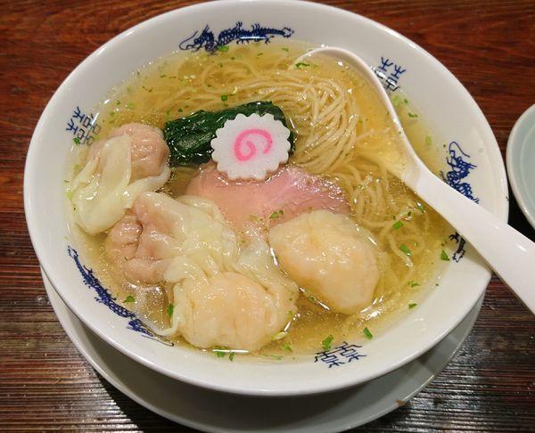 「山椒そば+肉.海老ワンタン二個(1040円)」@中華蕎麦にし乃の写真