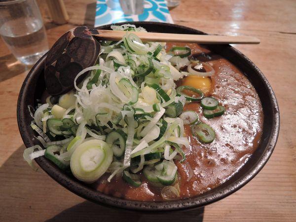 「カレーうどん+卵+ネギ増量」@吉宗の写真
