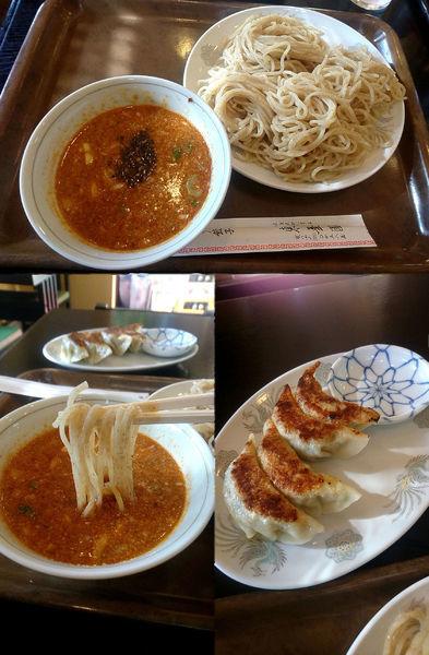 「『つけ担々麺 餃子セット(¥950)』」@東華園の写真