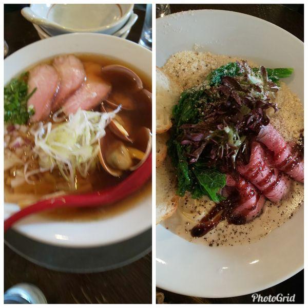 「ラーメン2種」@立ち呑み居酒屋 金町製麺の写真