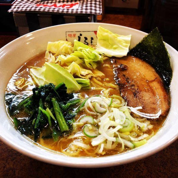 「醤油豚骨ラーメン(大盛り麺かため)」@麵屋 しるしの写真