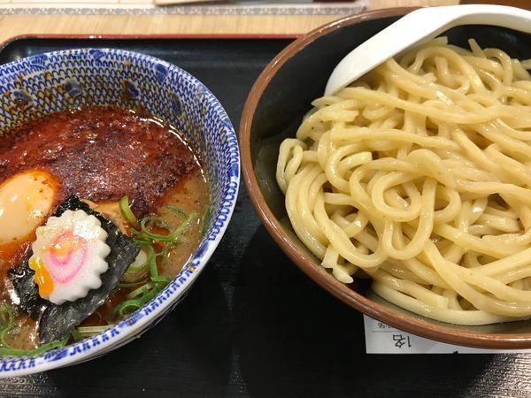 「濃厚魚介豚骨辛つけ麺+大盛り+味玉」@三竹寿 本店の写真