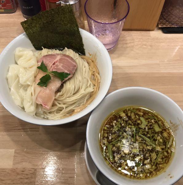 「皮ワンタン醤油つけそば」@鶏そばムタヒロの写真
