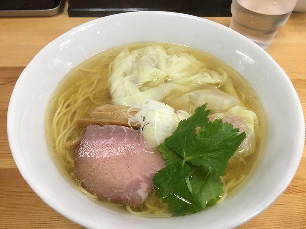 「塩ワンタン麺」@中華そば こてつの写真