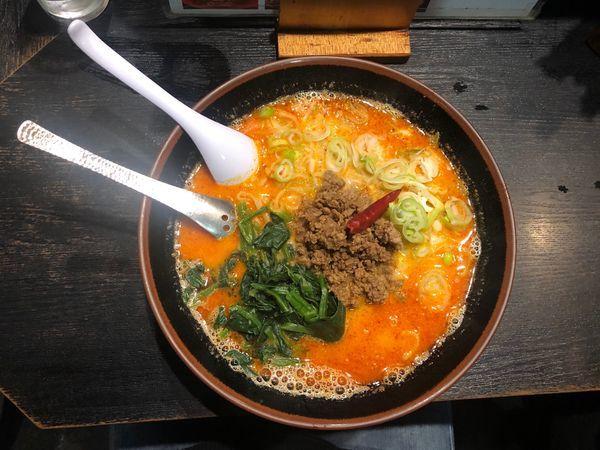 「担々麺 (中辛)」@らーめん屋 豪快の写真