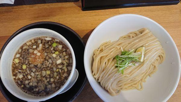 「鶏もつつけ麺 中盛 830円」@清麺屋の写真