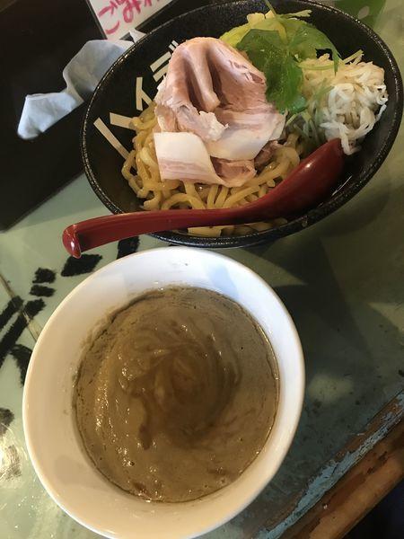 「トリュフつけ麺 特盛(800円)+レアチャーシュー(200円」@つけ麺屋 丸孫商店の写真