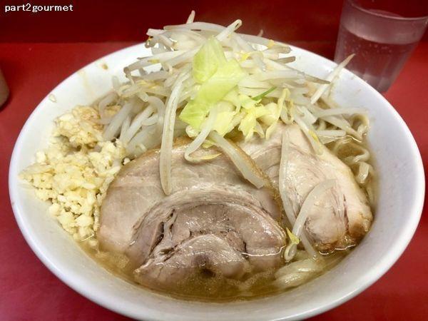 「小ラーメン 「麺少なめニンニク」(700円)」@ラーメン二郎 桜台駅前店の写真