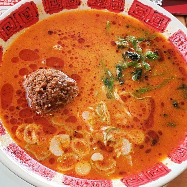 「花山椒とラー油の担担麺 755円」@バーミヤン 佐原東店の写真