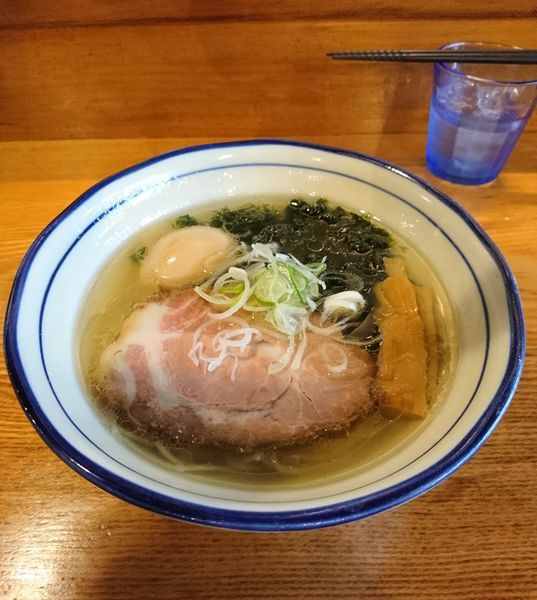 「塩青さらあめん 地鶏の煮玉子」@上州地鶏ラーメン 翔鶴の写真