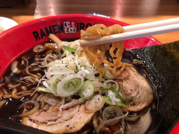 「富山ブラックラーメン」@麺家いろは CiC店の写真