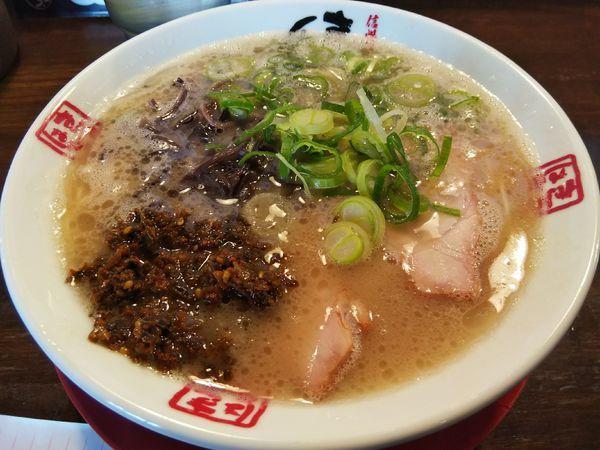 「本白味 :バリかた +辛子高菜(無料)」@きまぐれ八兵衛の写真