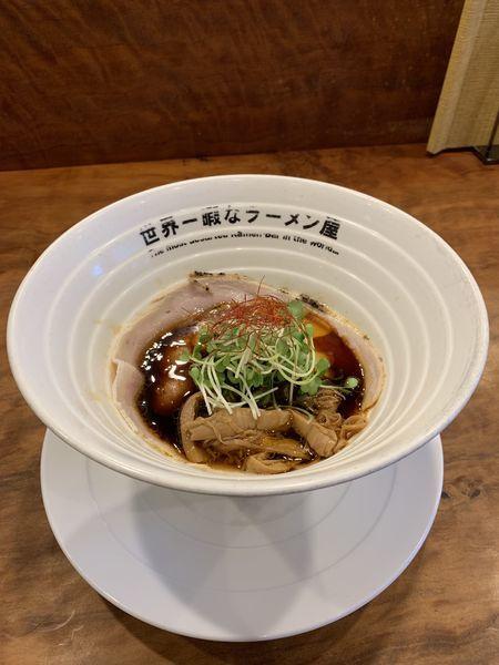 「KUROFUNE RETURN!!:840円」@世界一暇なラーメン屋の写真