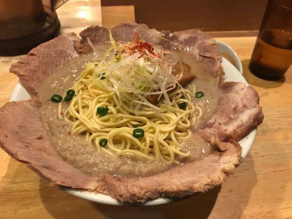 「鶏だく+チャーシュー+大盛り」@麺屋 極鶏の写真