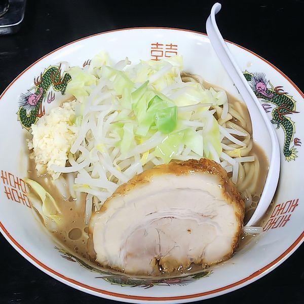 「ラーメン麺少なめニンニク」@肉だしラーメン 濃い豚の写真