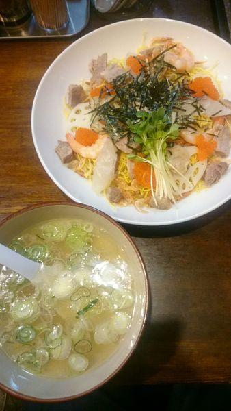 「蛤出汁のまぜつけそば  雛祭りver  1000円」@中華そば GO.TO.KU ~仁~の写真