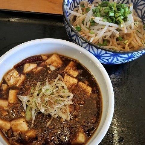 「麻婆つけ麺(あつもり) ¥850」@アジア食堂 Roots Bambooの写真