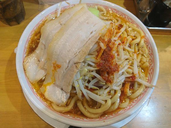 「辛ふじ麺(ニンニクなし)+大盛」@麺屋桜木の写真