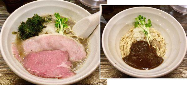 「煮干しと昆布の中華そば & 牡蠣玉」@布施丿貫の写真