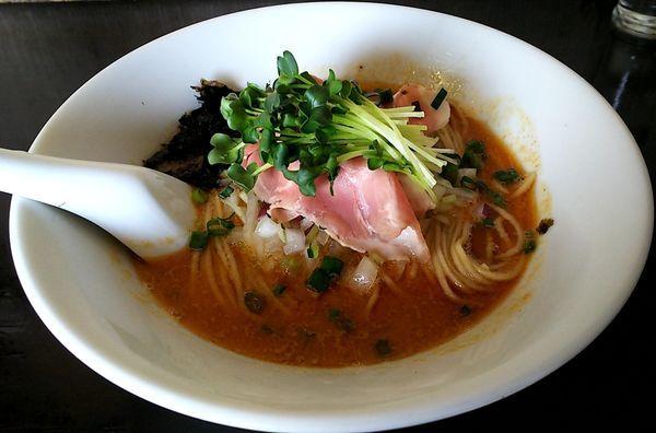 「鮟肝煮干し&牡蠣の和え玉」@と多゛食堂の写真