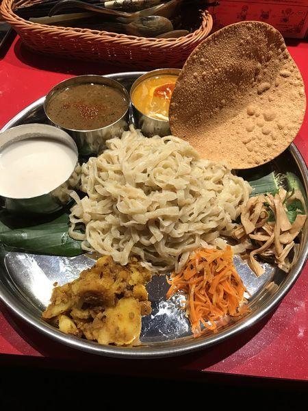 「インド式ミールスつけ麺」@スパイスらぁめん釈迦 池袋店の写真