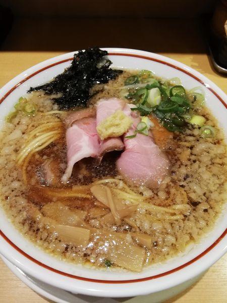 「背脂生姜醤油ラーメン」@新潟らぁ麺専門店 我武者羅の写真