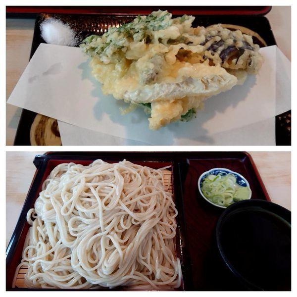 「生ゆばと野菜の天ぷら(800円)&大もり(650円)」@中根庵の写真