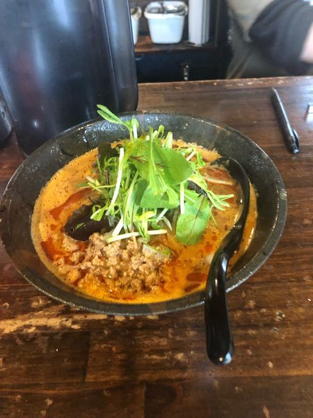 「担々麺 赤 870円 4辛」@担々麺専門店 GOMAの写真
