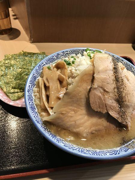 「ZAN  特製つけ麺」@らー麺土俵 鶴嶺峰の写真