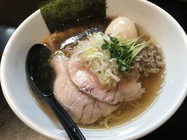 「味玉醤油らーめん900円」@麺や 勝治の写真