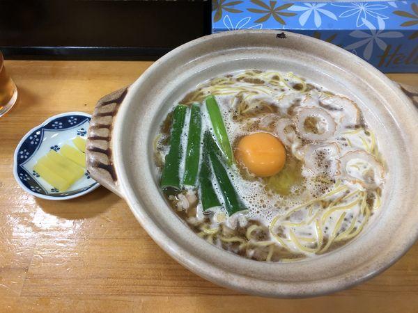 「鍋焼きラーメン(600円)」@鍋焼きラーメン千秋の写真