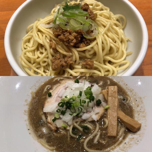 「煮干しソバ+追っかけ玉」@らーめんキッチン いいづかの写真