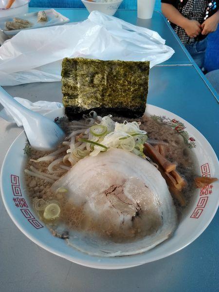 「長浜ラーメン、背脂チャッチャ系」@博多長浜ラーメン松村の写真