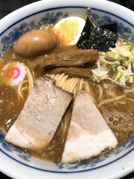 「半熟味玉中華そば 並 ¥1020」@松戸富田麺絆の写真