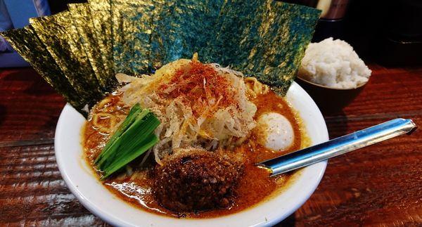 「立川タンタン+大盛り+味玉+海苔」@横浜家系ラーメン いとし家の写真