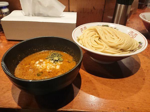 「スパイスポークカレーつけ麺(大盛)」@麺処 ほん田の写真