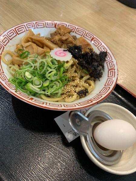 「濃厚豚骨魚介まぜそば650円」@三竹寿 本店の写真